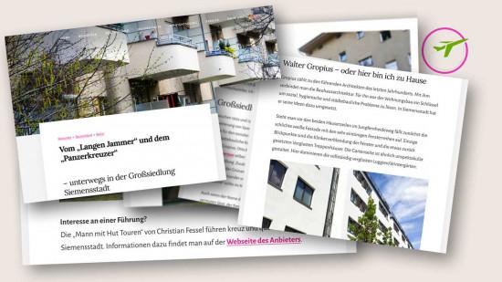 """Collage aus dem Blogbeitrag """"Großsiedlung Siemensstadt"""""""