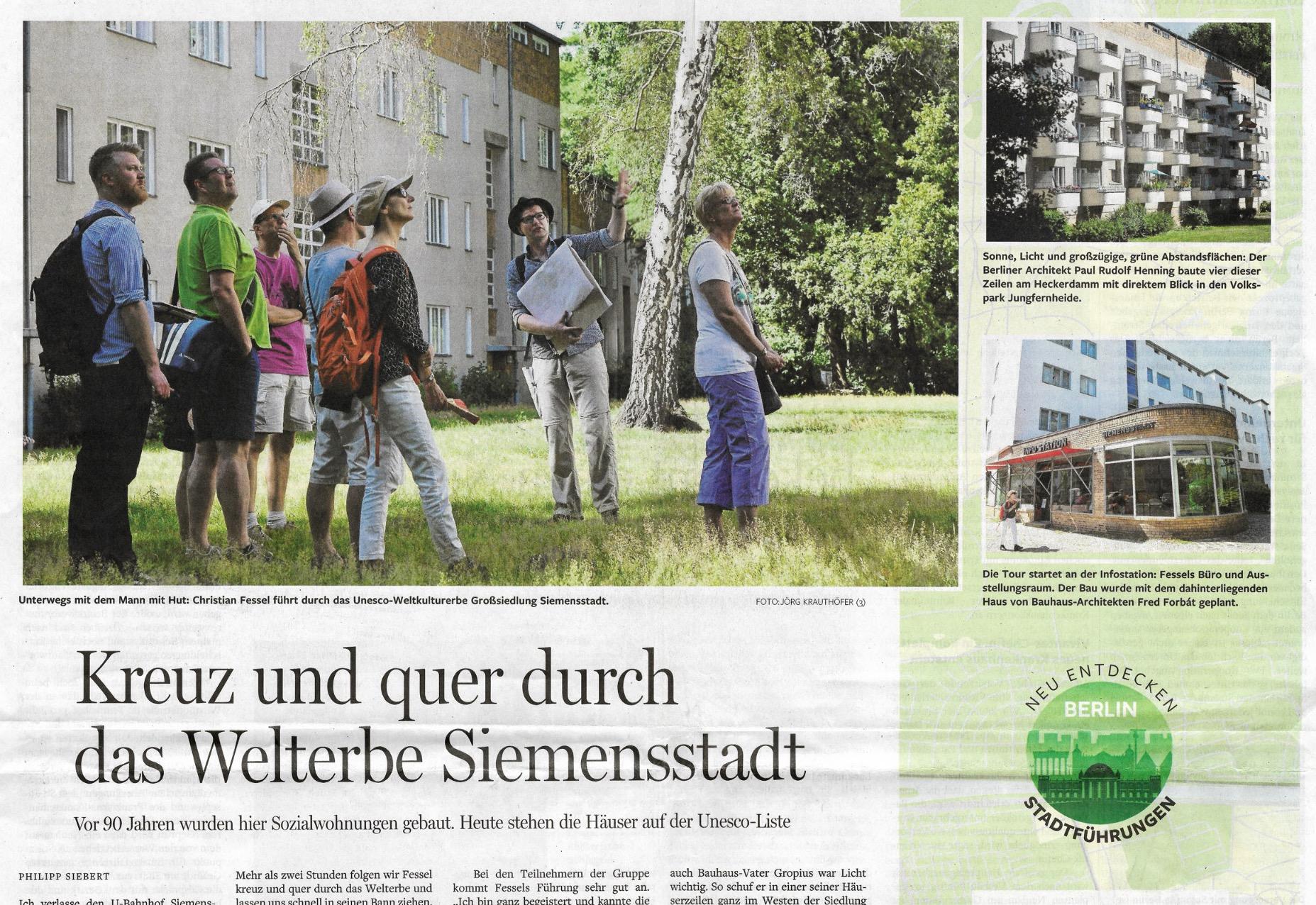 """Berliner Morgenpost:<br>""""Eine der schönsten Stadtführungen"""" 1"""