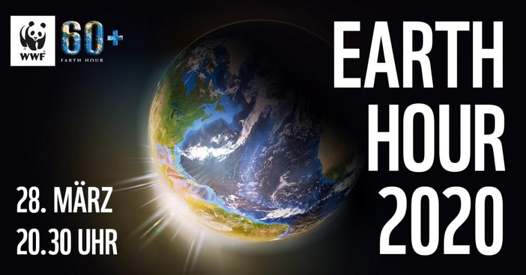 Earth Hour 2020 in der Infostation mit Mann mit Hut Touren