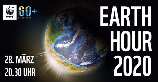 Earth Hour 2020 in der Infostation mit Mann mit Hut Touren