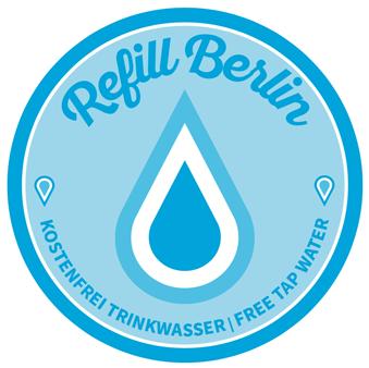 Der Aufkleber von Refill Berlin