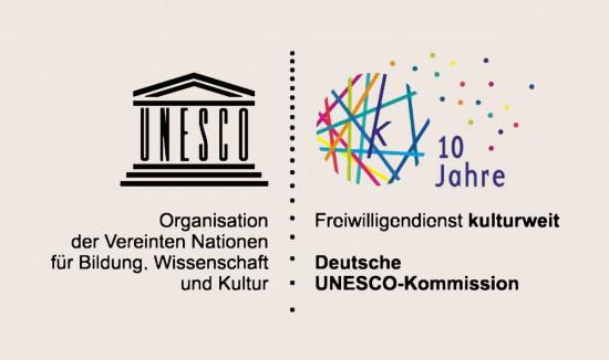 Das Logo von UNESCO kulturweit