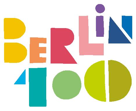 Mann mit Hut Touren: Das Logo zu den Berlin100 - Veranstaltungen. 100 Jahre Groß-Berlin